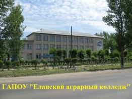 ГАПОУ «Еланский аграрный колледж»